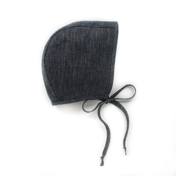 Cotton Liberty Bonnet: Stripe (Navy) 0M-4Y - Mabel Child