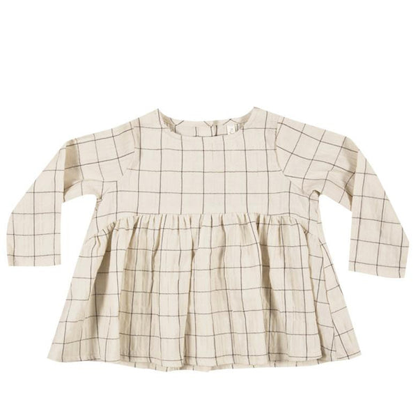 Check Long Sleeved Blouse - Mabel Child