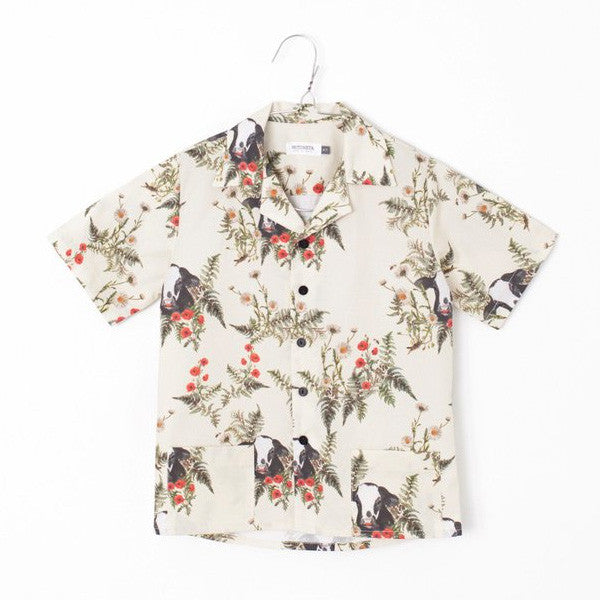 Flower & Bull Print Shirt - Mabel Child