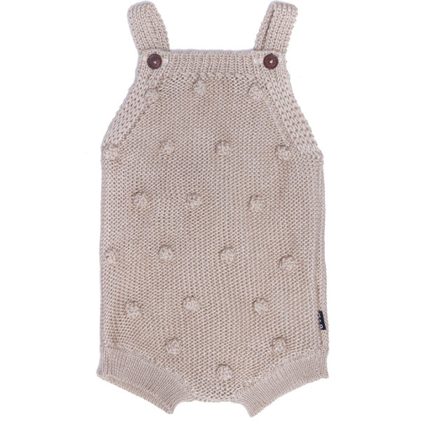 Milla Knit Romper In Oat - Mabel Child