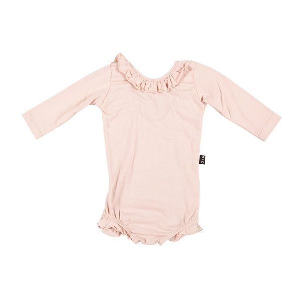 Baby Odette Leotard In Blush - Mabel Child