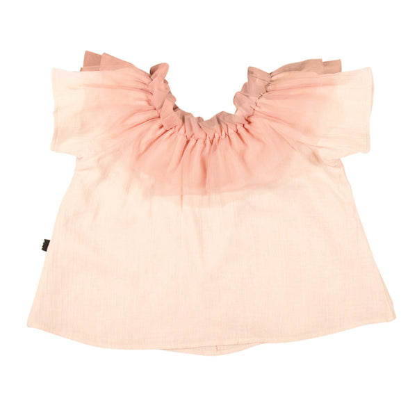 Tulle Smock Top In Blush - Mabel Child