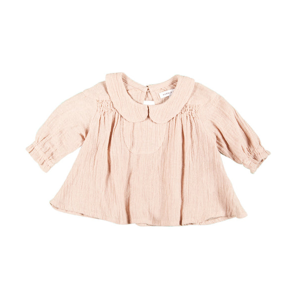 Vintage Smock Top - Blush Pink - Mabel Child