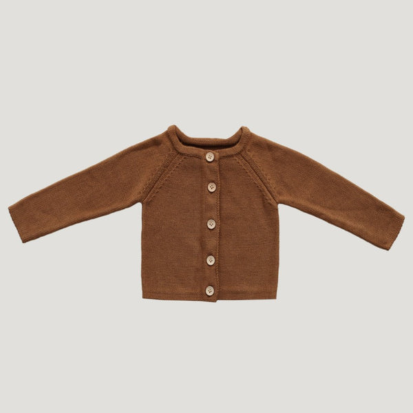 Simple Cardigan - Bronze - Mabel Child