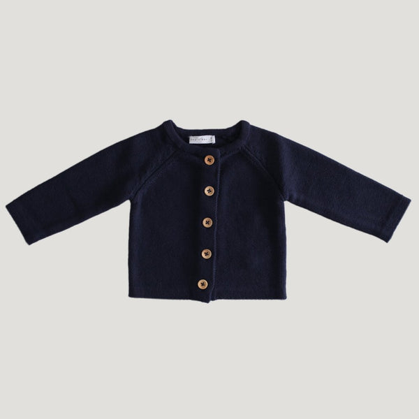 Simple Cardigan - Peacock - Mabel Child