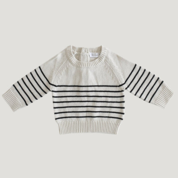 Stripped Knit - Oatmeal Marle - Mabel Child