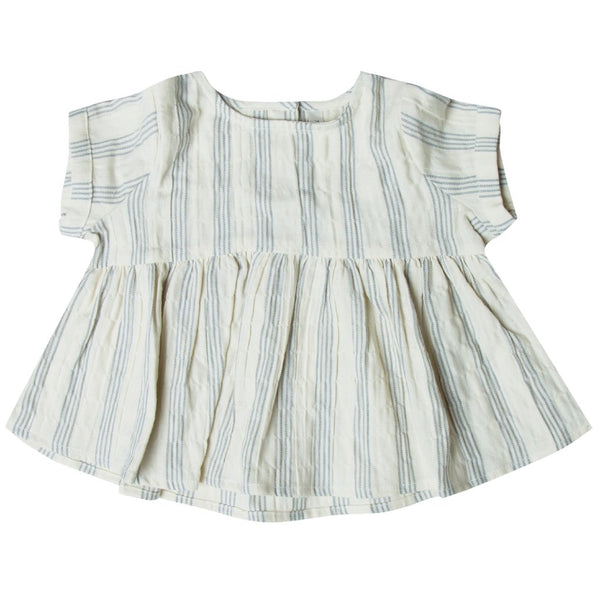 Stormy Stripe Blue Blouse - Mabel Child