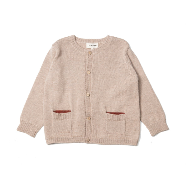 Pocket Colour Cardigan - Bisque - Mabel Child