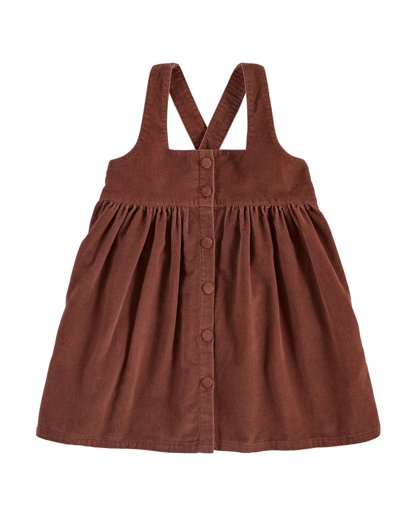 Dorcas Pinafore - Clay Velvet - Mabel Child