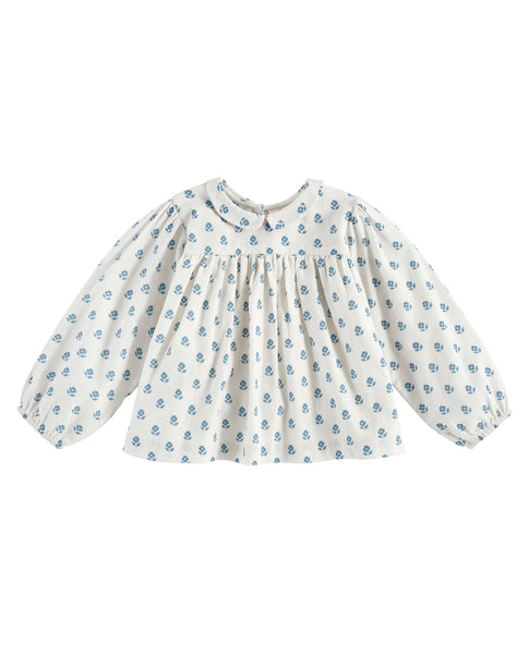 Emma Blouse - Upsy Daisy Floral Off White - Mabel Child