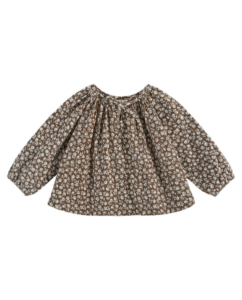 Olive Blouse - Floral Cord Nut - Mabel Child