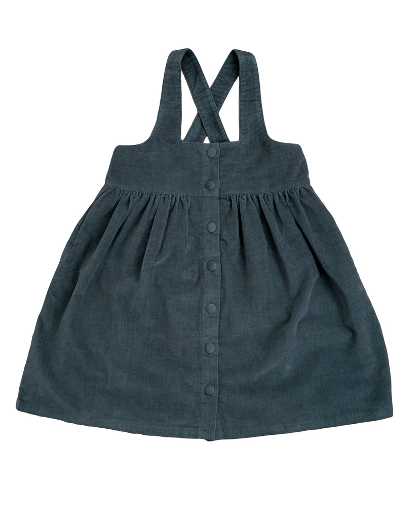 Dorcas Pinafore - Blue Velvet - Mabel Child