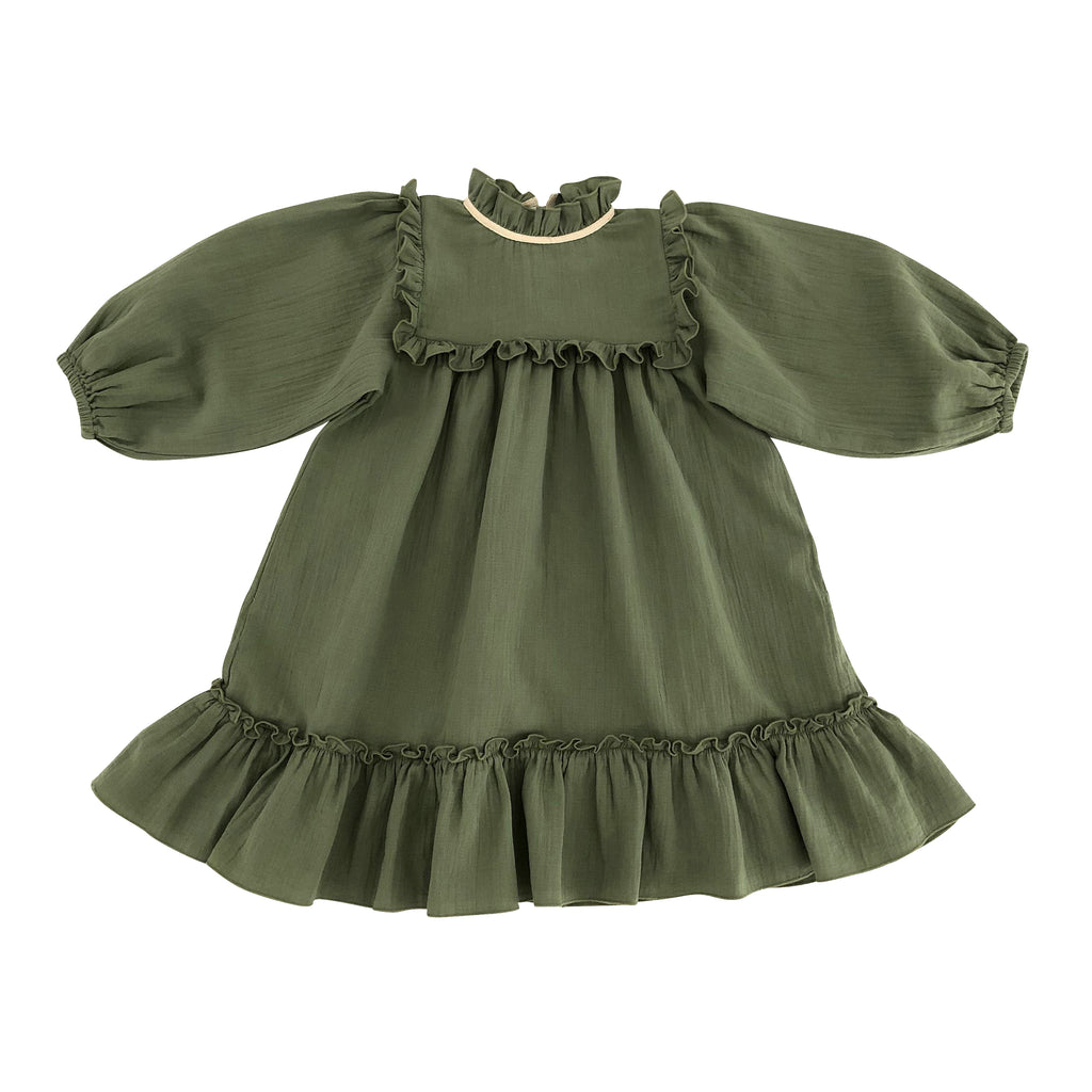 Liana Dress - Olive - Mabel Child