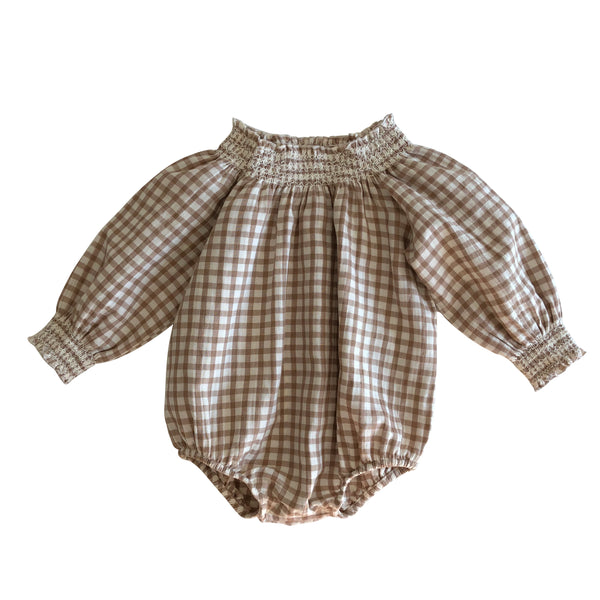 Smocked Romper - Mabel Child
