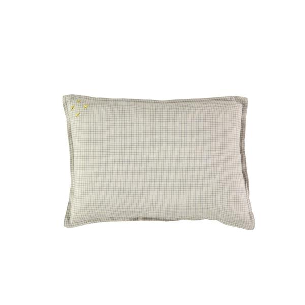 Limited Edition Hand Woven Check Cushions - Blue/Natural - Mabel Child