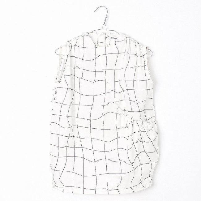 Luisa Dress White And Black Grid - Mabel Child