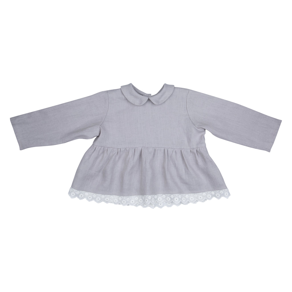 Grey Harmony Blouse - Mabel Child
