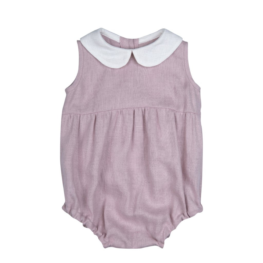 Dusty Pink Love Romper - Mabel Child