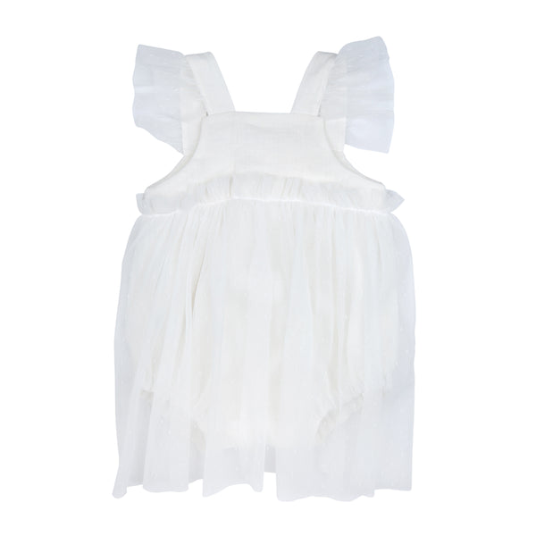 Pearl White Madeline Romper Dress - Mabel Child