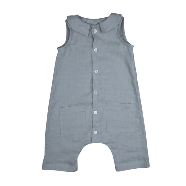 Light Grey Franka Romper - Mabel Child