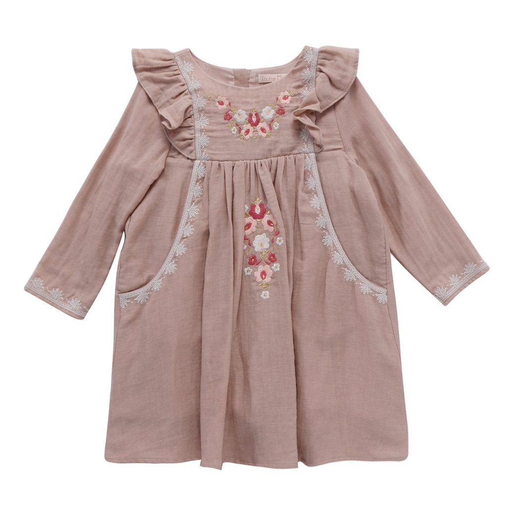 Misloka Dress - Cinder Rose - Mabel Child