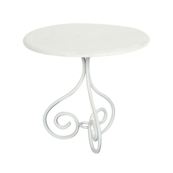 Maileg Romantic White Metal Coffee Table - Mabel Child
