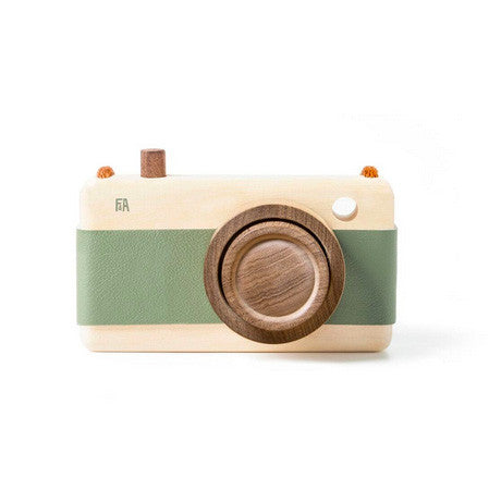 Mineral Green Wooden Zoom Camera - Mabel Child