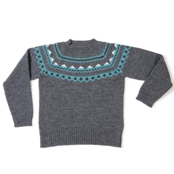 Mountain Sweater In Grey - Mabel Child