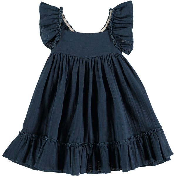 Pinafore Dress - Antra Blue - Mabel Child