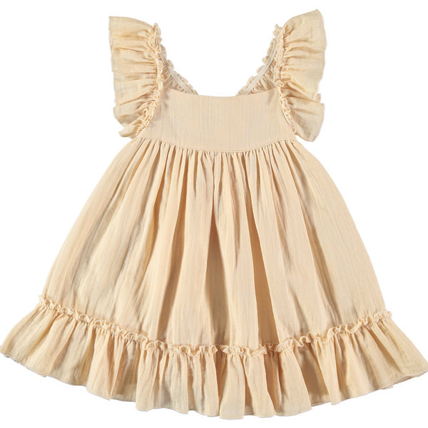 Pinafore Dress - vanilla - Mabel Child