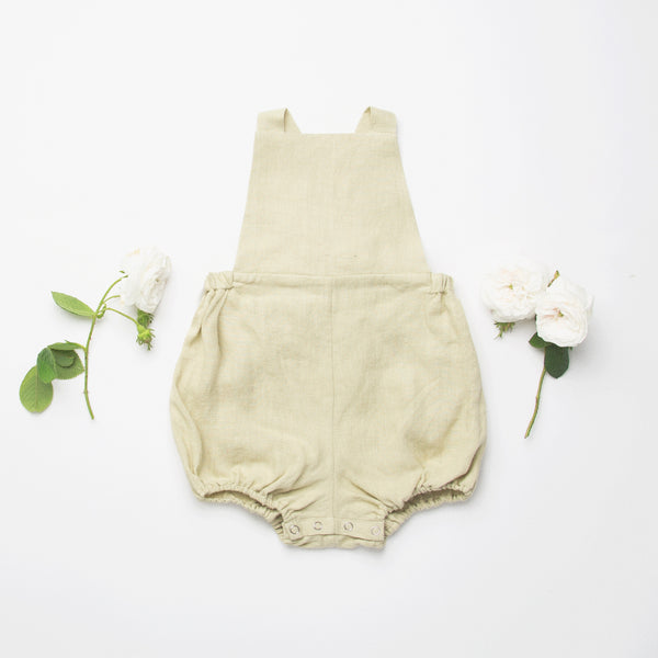 Jump Robe Romper - Sofe Sage Linen - Mabel Child