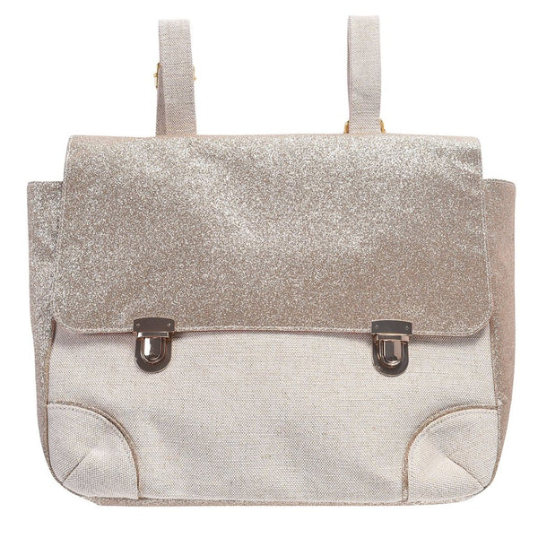 Schoolbag - Cream Glitter - Mabel Child