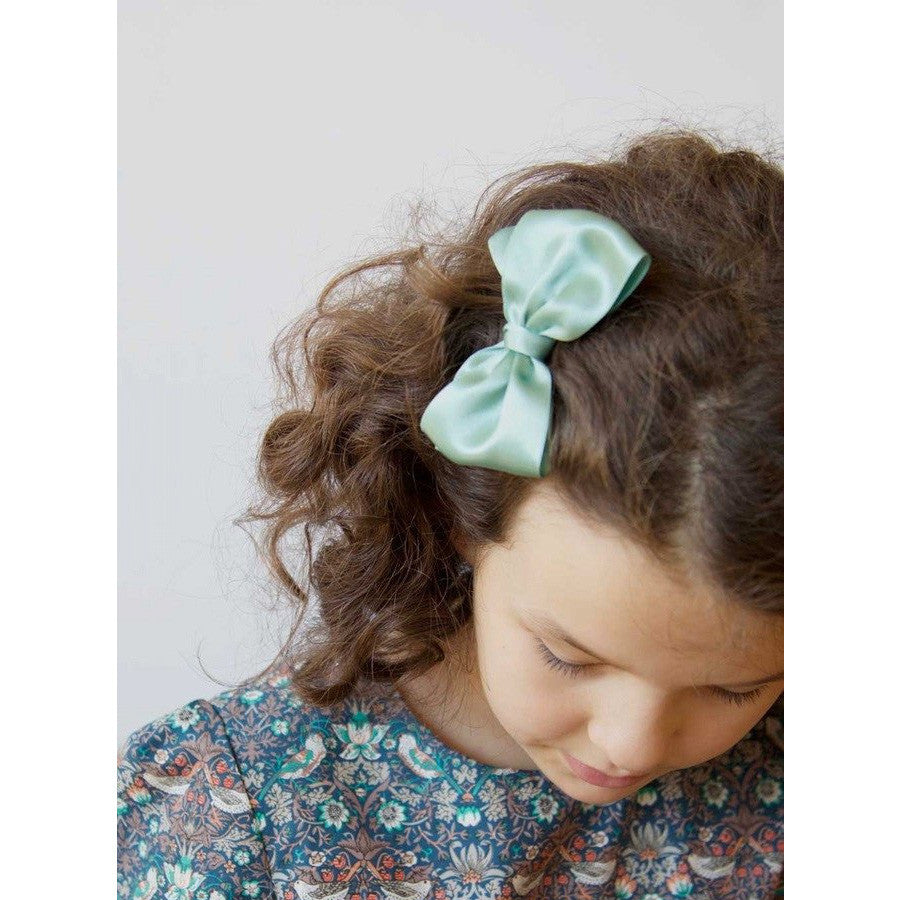 Satin Bow Hair Clip - Mabel Child