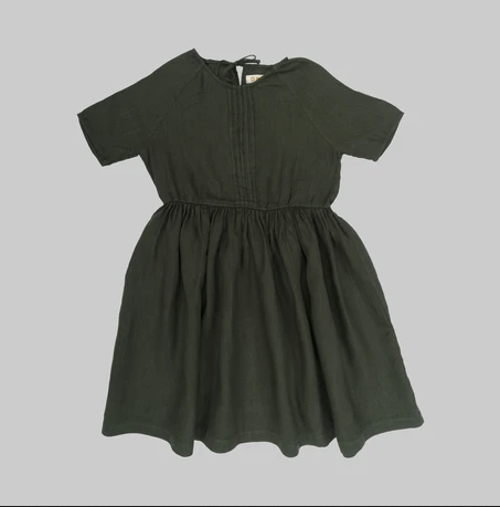 SIMA Dress - Seaweed - Mabel Child