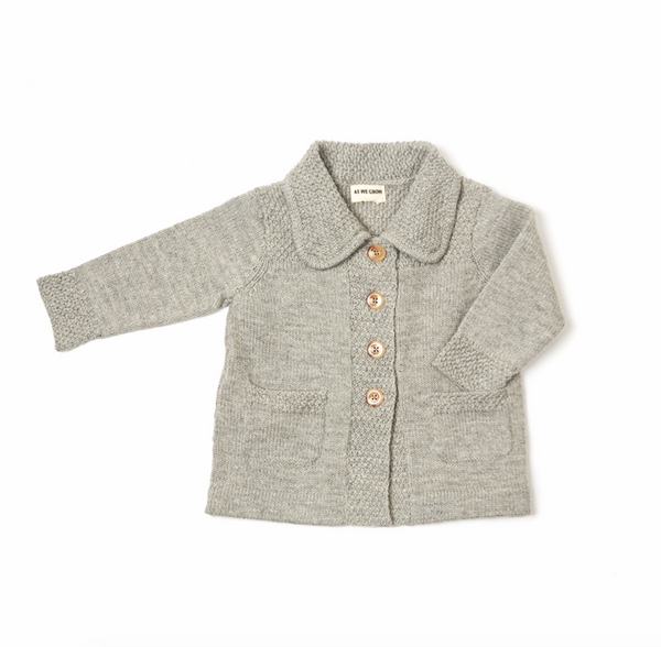 Light Grey Moss Jacket - Mabel Child