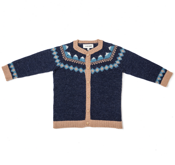 Mountain Cardigan In Navy - Mabel Child