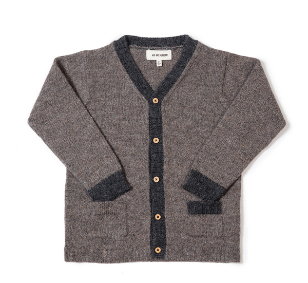 Two Tone V-Neck Cardigan - Mabel Child