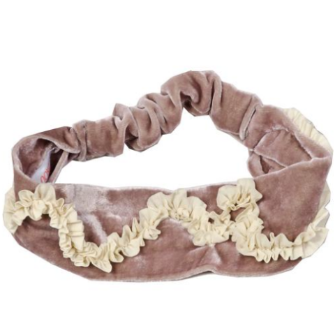 Blush Pink Velvet Headband - Mabel Child