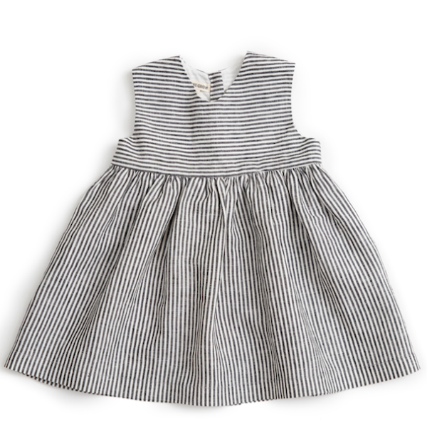 Striped Linen Sleeveless Dress - Mabel Child