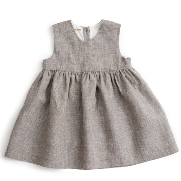 Checked Linen Sleeveless Dress - Mabel Child