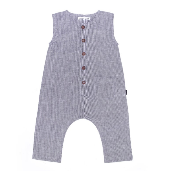 Kip Romper In pinstripe - Mabel Child