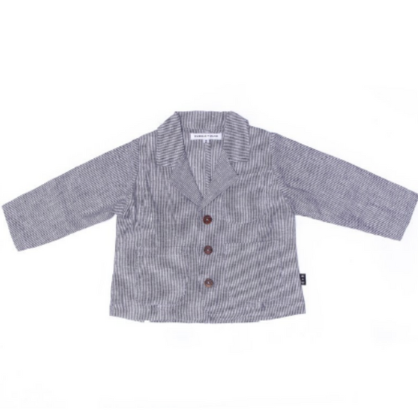 Patrick Jacket In Pinstripe - Mabel Child