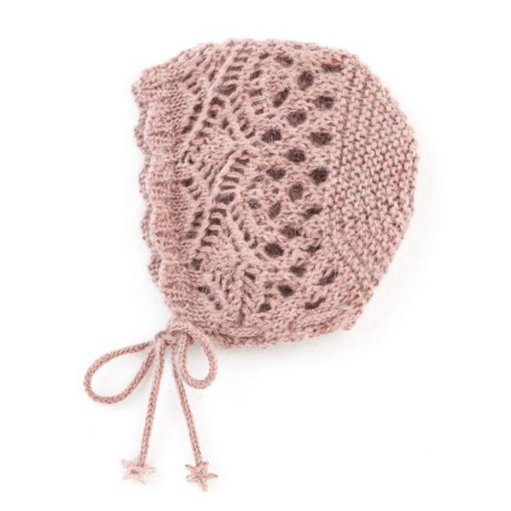 Lockstitch Baby Bonnet - Pink - Mabel Child