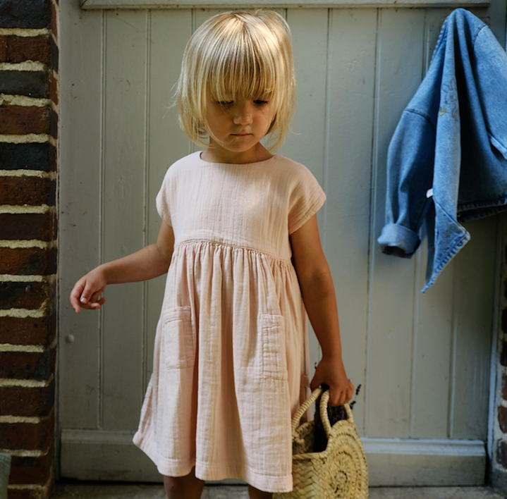 Hibiscus Dress - Evening Sand - Mabel Child