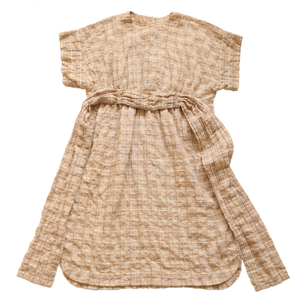 Beige Check Dress - Mabel Child