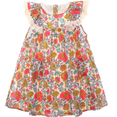 Costa Multi Flowers Dress - Mabel Child