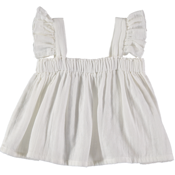 Zoe Top - White - Mabel Child