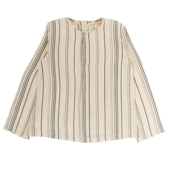 Ryan Shirt - Stripes & Cream - Mabel Child