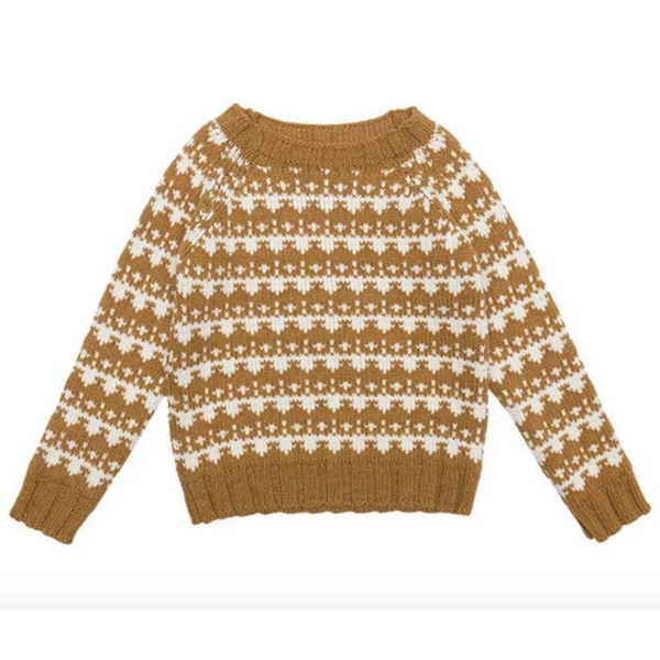 Alas De Rayas Sweater - Mustard - Mabel Child