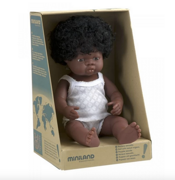 38cm Baby Doll African Boy & Girl - Mabel Child